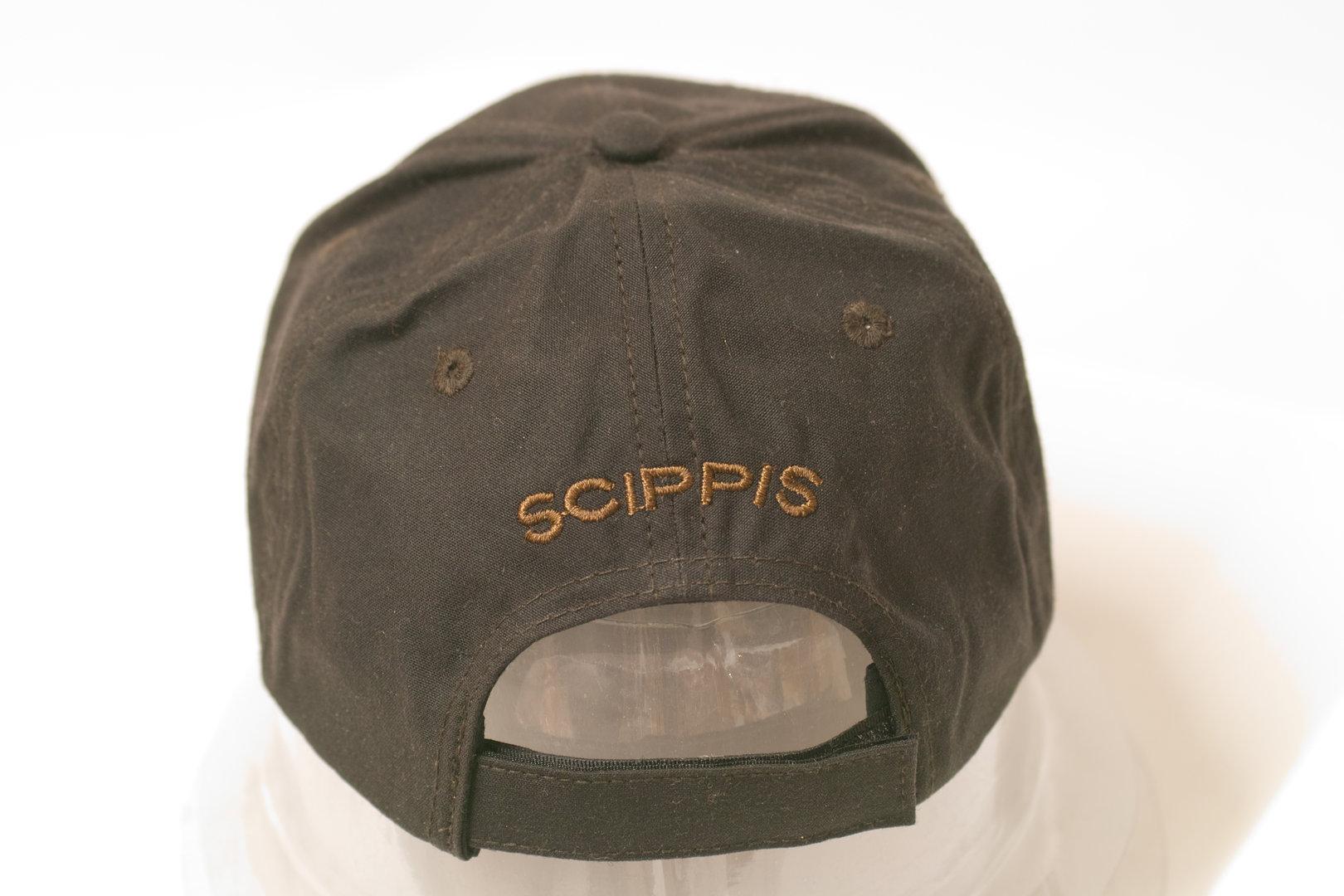 Scippis Oilskin Cap brown 1H10 with Aussie Motiv 7322c0e65bb